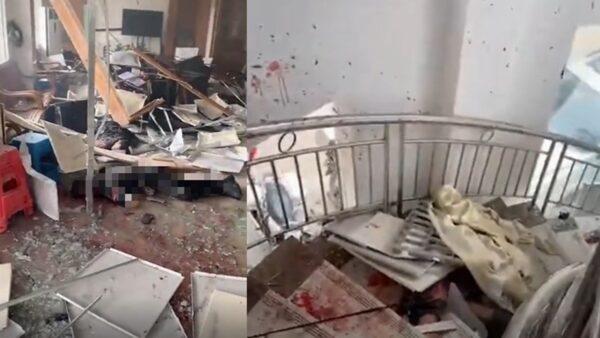 广州番禺村委会爆炸血渍遍布 传16村官死伤(视频)