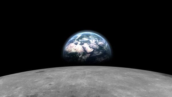 罕見畫面:在月球背面看地球緩緩升起