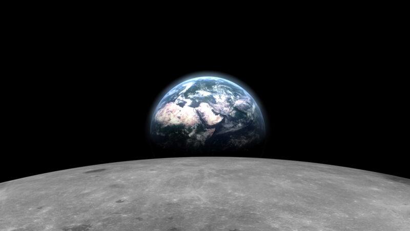 罕见画面:在月球背面看地球缓缓升起