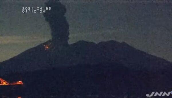 日本櫻島火山爆炸性噴發 火山碎屑流約1.8公里
