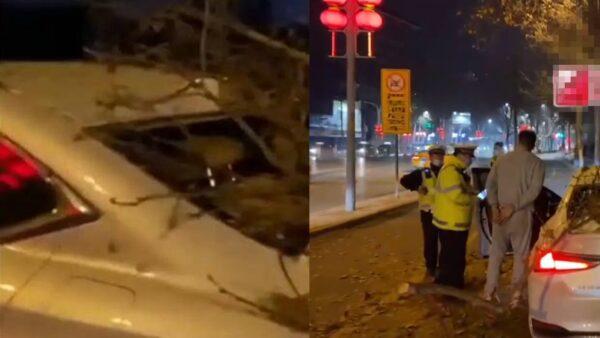 中国一级运动员酒驾拒捕 弃车狂奔2公里被抓(视频)