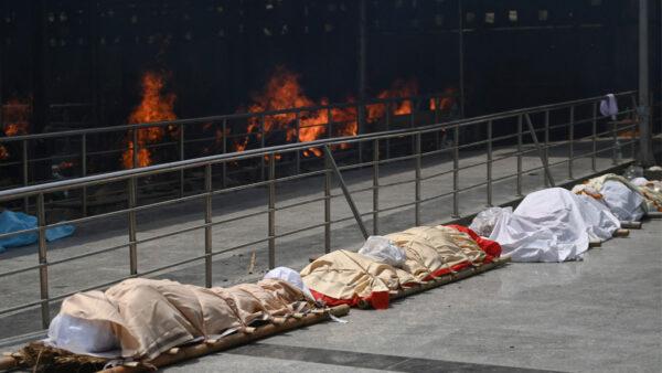 印度屍體排長隊等火化 總理嬸嬸也死於中共病毒