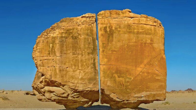 巨石被平衡分割两半 科学家称不是人类干的 谁干的?