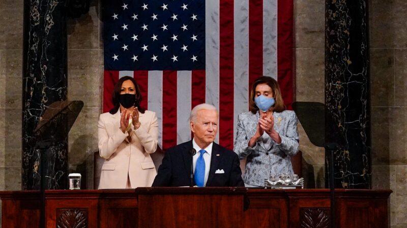 拜登首度国会演说 出现美国史上罕见一幕(视频)