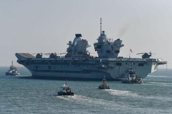 英航母拟避过台湾海峡停靠日本 与自卫队联合演习