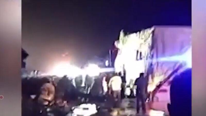 清明节中国重大事故 货车撞大客至少11死