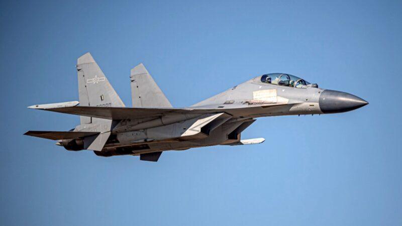 台海局勢升級 中共25架軍機擾台 本月最大規模