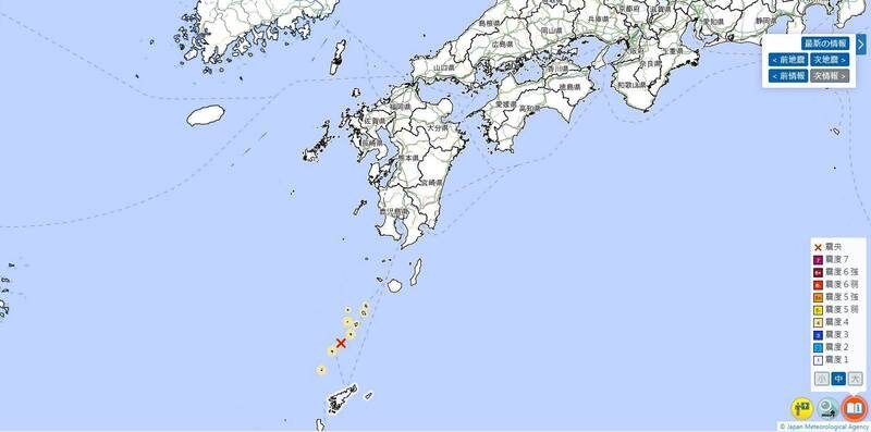 日本南方近海 36小时连发141起地震