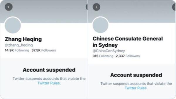 違反推特規則 中共兩個外交戰狼帳號同日被封