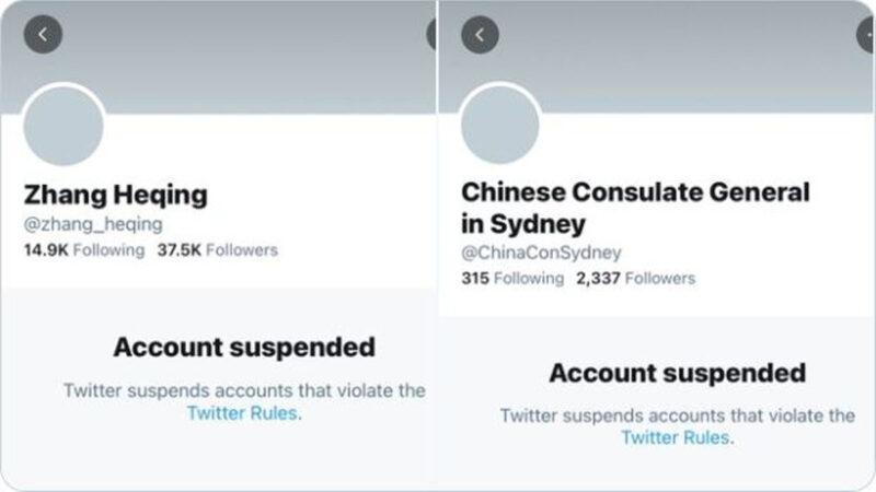 违反推特规则 中共两个外交战狼账号同日被封