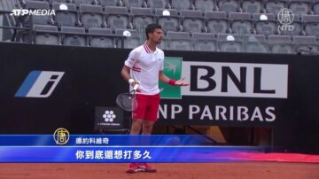 意大利网球公开赛 德约科维奇怒吼裁判