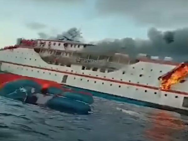 印尼渡輪海上起火 275人跳船逃生1人失蹤