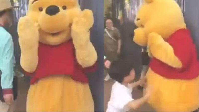 """上海维尼熊挨打被屏蔽 陆媒改""""噗噗熊""""搜索过亿"""