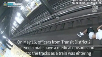截停地鐵跳下鐵軌救人 紐約英勇警員獲表彰