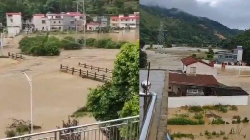 """广东遭""""50年一遇大洪水"""" 多个城镇被淹(视频)"""