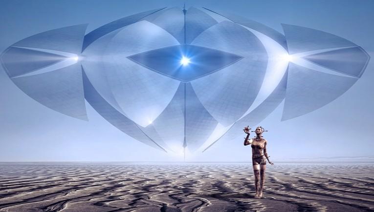 阿拉伯沙漠UFO來去如光 背後藏千古謎團