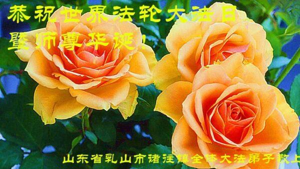 山东法轮功学员恭贺世界法轮大法日暨李洪志大师华诞(18条)