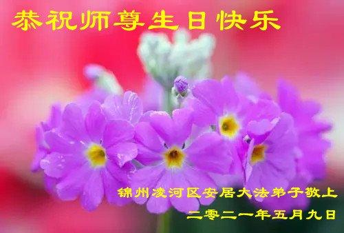 锦州法轮功学员恭贺世界法轮大法日暨李洪志大师华诞(23条)