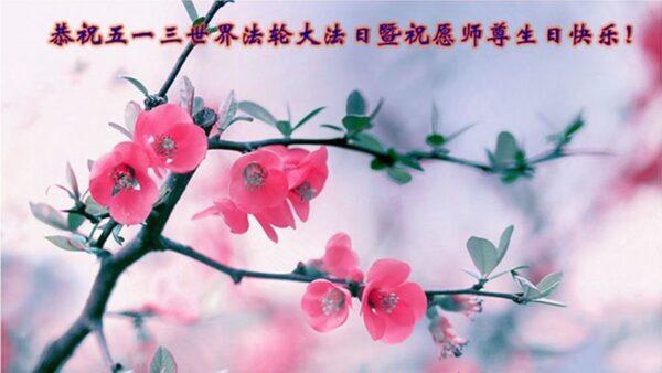 湖北法轮功学员恭贺世界法轮大法日暨李洪志大师华诞(25条)