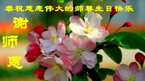 四川法轮功学员恭贺世界法轮大法日暨李洪志大师华诞(25条)