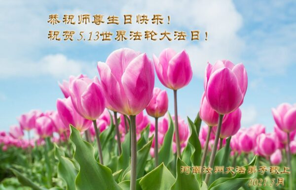 河南法轮功学员恭贺世界法轮大法日暨李洪志大师华诞(23条)