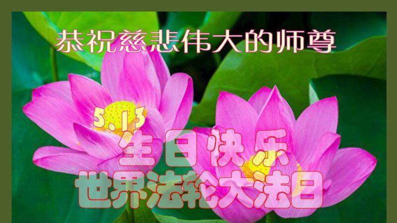 成都法輪功學員恭賀世界法輪大法日暨李洪志大師華誕(28條)