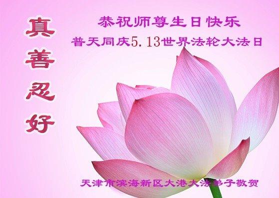 天津法轮功学员恭贺世界法轮大法日暨李洪志大师华诞(25条)