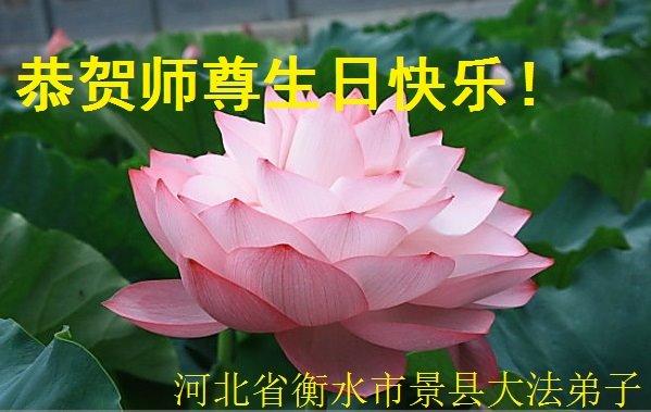 河北法輪功學員恭賀世界法輪大法日暨李洪志大師華誕(24條)
