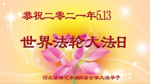 保定法轮功学员恭贺世界法轮大法日暨李洪志大师华诞(23条)