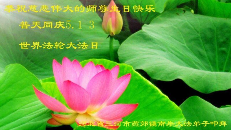廊坊法轮功学员恭贺世界法轮大法日暨李洪志大师华诞(21条)