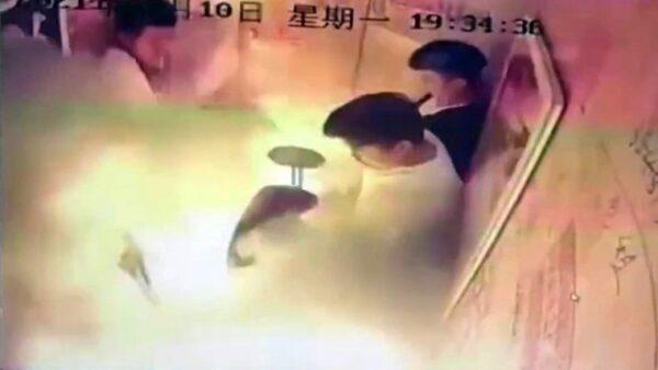 成都電動車電梯內爆燃5人傷 5月嬰傷勢嚴重