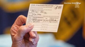 伪造疫苗纪录卡盛行 加州禁止私印买卖