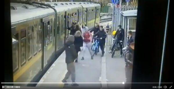 爱尔兰少女遭冲撞惨摔月台 恐怖画面曝光