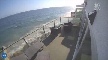 加州馬里布海濱別墅陽台坍塌 多人受傷