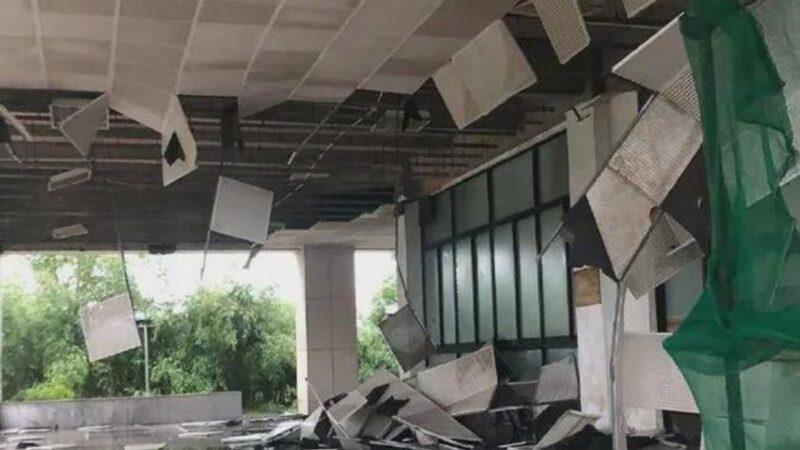 狂風暴雨突襲武漢 吊籃撞高樓致2人喪命(視頻)