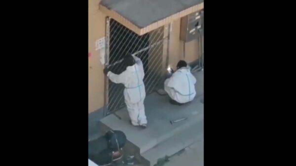疫情又到 傳遼寧營口開始焊樓門(視頻)