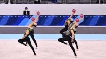 从未见过的场景 东京奥运艺术体操测试