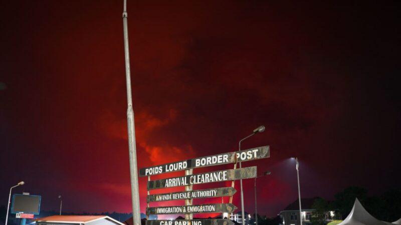 民主剛果火山噴發 熔岩流進機場居民恐慌逃