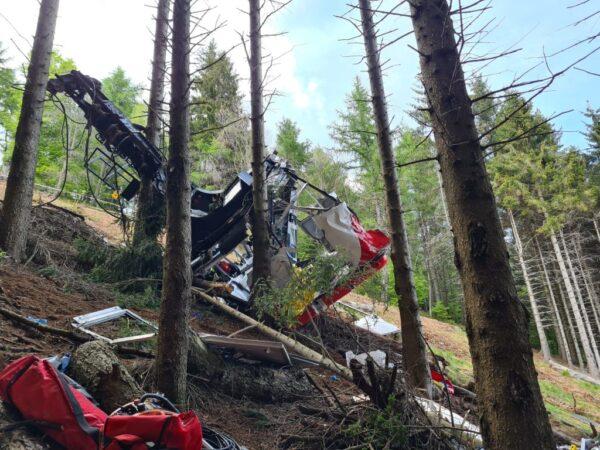 意大利缆车缆线断裂 坠落山谷14人身亡(视频)