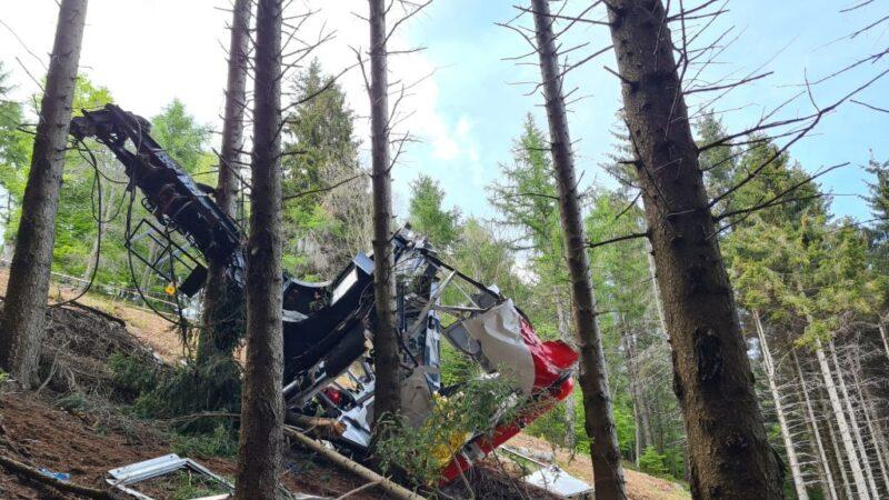 意大利纜車纜線斷裂 墜落山谷14人身亡(視頻)