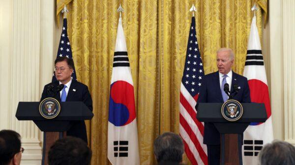 美韩联合声明:维护台海和平稳定 反对破坏与威胁