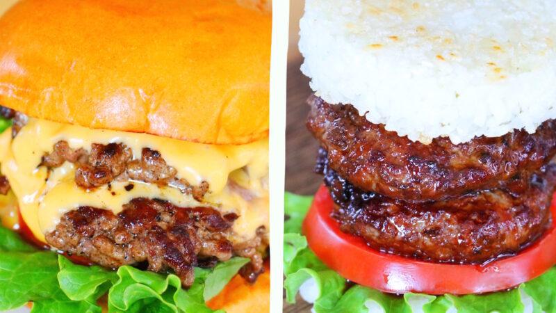 【美食天堂】美式砸碎漢堡VS米飯漢堡 一學就會