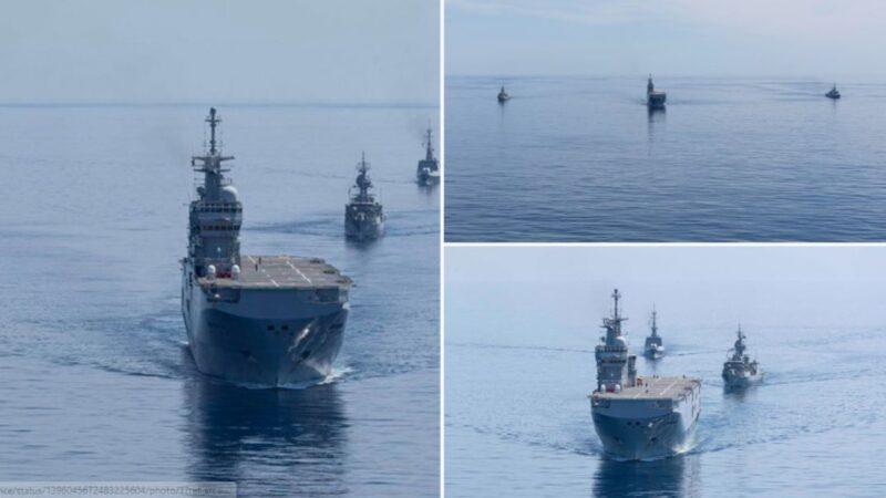 警告中共? 澳法军舰编队再度巡航南海