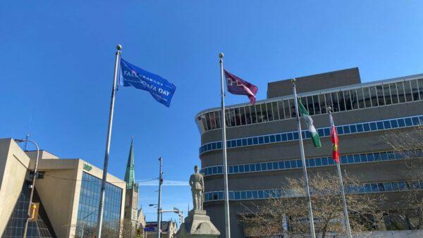 多倫多市長賀世界法輪大法日 三城市褒獎升旗慶祝
