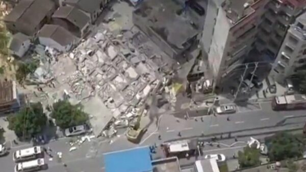 湖南汝城大樓倒塌12死傷 百年黨慶災難集中爆發