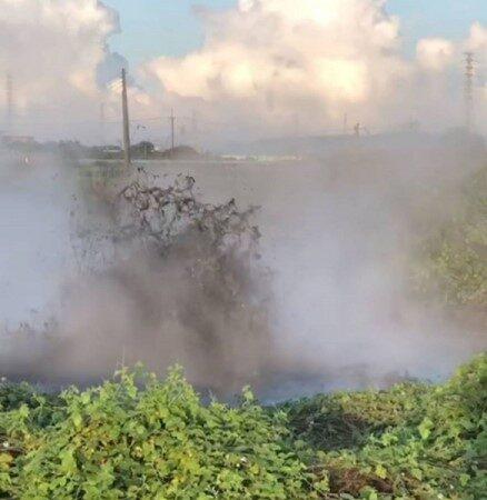 時隔3年 屏東萬丹泥火山再度噴發
