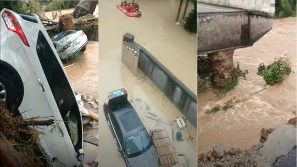 浙江突降暴雨 山体滑坡、房屋倒塌多人死伤(视频)