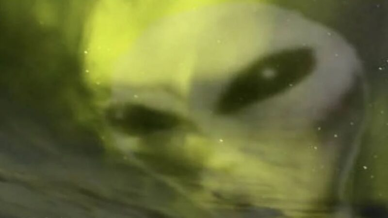 """北极光中惊现""""外星人"""" 外星神秘生物藏身于地球大气层"""