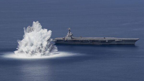 18噸炸藥近距引爆 美超級航母測試畫面曝光