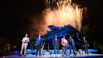 加州迪士尼漫威新园区 一众英雄显身手